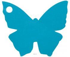 Artificiali – Segna posto x10 Farfalla turchese 4 x 4 cm – Scegli il tuo colore: Turchese