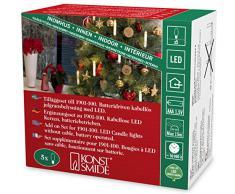 Konstsmide albero LED illuminazione, 5piccole candele bianche, Set supplementare per 1901–100, 5diodi a luce bianca calda, funzionamento a batteria, interno, 5x AAA 1,5V exklusiv 1906–100