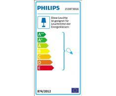 Philips Lighting Creek Lampada da Parete per Esterni, Luce Diffusa, Alluminio, Nero