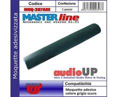 Moquette acustica adesiva per rivestimento box colore grigio scuro. Dimensioni cm70x140
