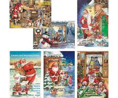 Biglietti di Natale con motivi natalizi, 50 pezzi Biglietti d' auguri Natale 22 – 1728 biglietto di auguri di Natale biglietti di auguri