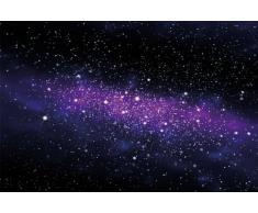 Galassia Fotomurale - spazio tappezzeria da parete - cielo stellato quadro - XXL decorazione da parete -cameretta dei bambini 210 cm x 140 cm