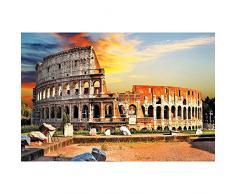 GREAT ART XXL Poster – Colosseo a Roma – Quadro di Anfiteatro Colosseo XXL Fotoposter Città dArte Must See City Attrazione nella Metropoli Decorazione da Parete 140 x 100 cm