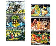 rukauf 10 Confezioni di Decorazioni di Pasqua Fiabe, 7 Diversi Motivi per Confezione fiaba