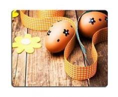 Luxlady Gaming Mousepad foto ID: 26072592 fondo in legno, decorazioni pasquali