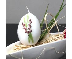 Oster candela uovo di Pasqua Uovo Palm Gattino candele 65/40 mm, colore: bianco, 6 PZ.