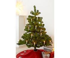 Heitmann Deco 90626, codolo catena di luci/luci/illuminazione albero di Natale per interni ed esterni, 20Â candele LED, vetro, luce bianca calda