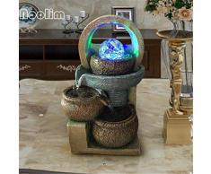 Indoor Fontana in Resina Acqua Ornamenti Feng Shui Sfera Display Cerimonia Bonsai umidificatore casa di Apertura Regalo