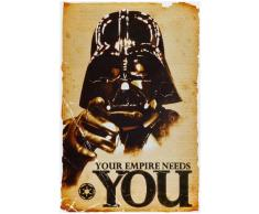 1art1 52077, Poster, motivo: Star Wars - Empire Needs You, 91 x 61 cm