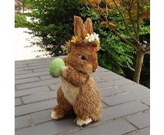 Mankvis Coniglietto di Pasqua. Decorazioni pasquali Regali Natalizi Forest System Decorazione Coniglietto di Paglia Decorazioni per la casa Giocattoli per Bambini Coniglio