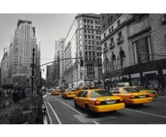 Empire - Poster New York - Yellow Cab Taxi colourlight 5th + accessori ohne rahmen