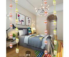 Amosfun Uova di Pasqua Bubble Uova Colorate Hanging Decoraster Regalo Pasqua Decorazione del Partito Creativo Bella Pasqua Decor (Colore Casuale)