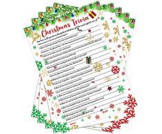 55 Pezzi Natale Gioco a Quiz Festa a Tema Natalizio Giochi di Indovinare Attività di Festa Decorazioni Annuali per Feste Festive Giochi da Tavolo di Carte Articoli per Feste