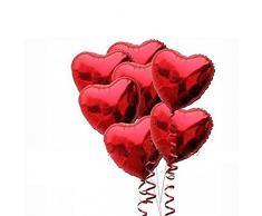 PIXNOR Palloncini foil con le corde per la decorazione di San Valentino matrimonio fidanzamento, confezione da 10