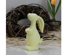 Coniglietto pasquale Coniglio Pasqua Oster nido decorazione tavolo decorazione pastell giallo 14,5 cm