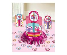 amscan International Micro Zone - Kit di Decorazioni da Tavolo per Feste di Compleanno, con Motivo Birthday Girl