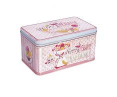 Natives 610100 – Happy thérapie-macarons Scatola Mattarello metallo multicolore 28 x 24 x 11 cm