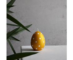 Ei osterdeko candela Pasqua 90 X 70 mm giallo dekoeier