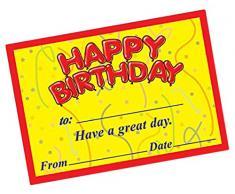 """Primary Teaching Services a 12,70 cm (5"""") Happy Birthday, stelle filanti «certificato (confezione da 20)"""