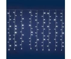 Tenda 5 x 1,5 m, 384 led bianchi, cavo trasparente, con giochi di luce digitali, luci di Natale, luci natalizie per esterno