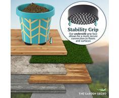 Piedini in gomma per vasi di piante e fiori, rialzi invisibili con superficie antiscivolo per una migliore presa e stabilità, con cuscinetti adesivi inclusi, confezione da 24 pezzi