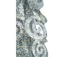 Christmas Concepts® Decorazione per albero di Natale in metallo argentato da 16 pollici