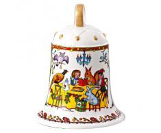 """Hutschenreuther 02250-725486-27918 - Grande campana natalizia di porcellana """"Il Natale del bosco"""", in confezione cartonata da regalo"""
