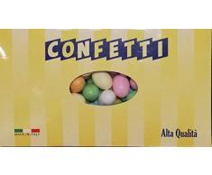 Ovetti di Pasqua Confettati Colorati ripieni di morbido Cioccolato al Latte kg 1 - Boccia