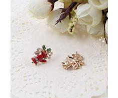 Cosanter Orecchini di Natale Orecchini in Lega da Donna a forma di Campana Selvaggio Diamante per Gioielleria da Regalo di Natale 2.2 * 1.5cm