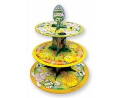 Amscan - Alzata per Muffin a 3 Piani - Decorazioni Pasquali