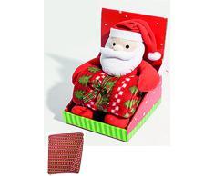 """Lovely Home - Set gioco Pupazzetto Natale con Copertina Plaid Pile """"Jingle Bells"""" Idea Reaglo, BABBO NATALE"""