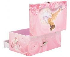 Trousselier S60974 - Scatola musicale portagioie, motivo: Ballerina, colore: Rosa