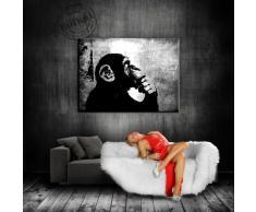"""'Graffiti, quadri su tela, """"Banksy"""" Stampa Su Tela – quadro 100 x 70 cm K. poster. Immagine già montato su telaio. Pop Art pittura arte stampe, quadri, Immagini Per La Decorazione – Decorazione/Top 200 """" Banksy Street Art murali"""