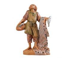 Statuine Presepe: Pescatore con rete 6,5 cm Fontanini