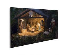 islandburner Quadro su Tela Presepe di Natale con Giuseppe Maria e Il Piccolo Gesù Stampa Foto Quadri Moderni