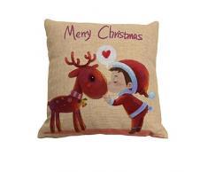 Amybria quadrato di Natale-Federa cuscino Case-Decorazione da casa dolce-Fodera per cuscino, Motif C, 45cm*45cm/18*18