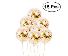 Toyvian Palloncini d'oro con Paillettes Palloncini glitte per Decorazioni di Nozze per Feste di Compleanno