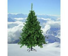 Fun House American Albero di Natale, Metallo, Verde, 1.8 m