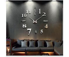 Soledì- Orologio da Parete Effetto Tridimensionale 3D Sticker Decorazione per Casa Ufficio Hotel Ristorante Fai Da Te