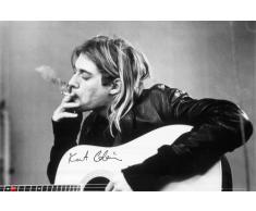 Grupo Erik LP1151 Poster Kurt Cobain, carta, Multicolore, 91 x 61,5 x 0,1 cm