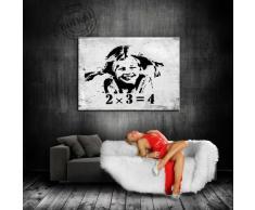 """'Graffiti, Banksy, Stampa su tela - """"Banksy"""" immagine 120 x 80 cm K. poster. # 499 immagine già montato su telaio. Pop Art pittura arte stampe, quadri, Immagini Per La Decorazione - Decorazione/Top 200 """" Banksy Street Art murali"""