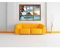 Thailandia Phuket Playa Paradisiaca Fenêtre en 3D look, mur ou format vignette de la porte: 92x62cm, stickers muraux, sticker mural, décoration murale