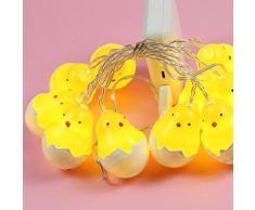 LEDMOMO Luce di Pasqua Luce Guscio d'uovo Stringa di luce del fumetto Luce Decorazione luci per la festa di compleanno di nozze di San Valentino di San Valentino 4.9ft 10 LED