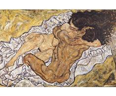 1art1 Egon Schiele - LAbbraccio, Gli Amanti II, 1917 Poster Stampa Geante XXL (120 x 80cm)
