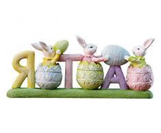 misslight Statue del Coniglietto di Pasqua e Uova Colorate (Style2)