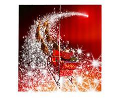 2x Natale Temporizzato Tende Per Porte Finestre Tende Per La Decorazione Natalizia - #07, 150x166cm