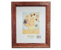 Cornice in legno Noce Antico 20X25 Quadro con Lastra in Vetro per Poster