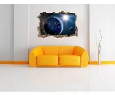 Pianeti in innovazione muro spazio nel look 3D, parete o in formato adesivo porta: 92x62cm, autoadesivi della parete, autoadesivo della parete, la decorazione della parete