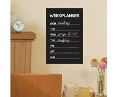 Adesivo Da Parete Settimana Planner Lavagna Lavagna Rimovibile Decorazioni Per La Casa Decalcomania