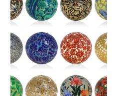 Pasqua ornamenti a mano decorazione appesa set palle di carta pesta di 12
